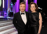 Alec Baldwin and Sigourney Weaver stopped for a snap.