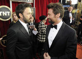 Ben Affleck chatted with Hugh Jackman on the red carpet at the SAG Awards.