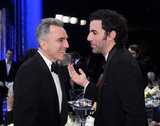 Daniel Day-Lewis laughed with Sacha Baron Cohen.