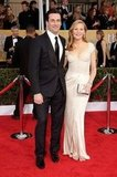 Jon Hamm stepped out with Jennifer Westfeldt for the SAG Awards.