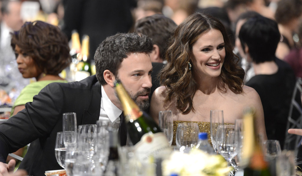 Affleck and Garner spoke with friends during the 2013 SAG Awards.