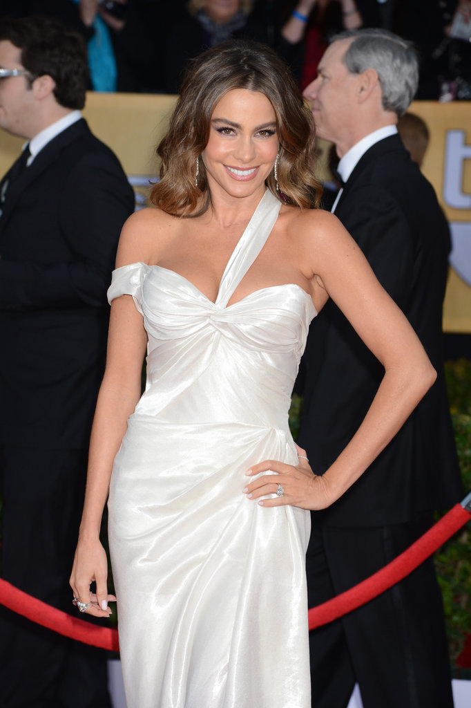 Sofia Vergara smiled for cameras on the red carpet.