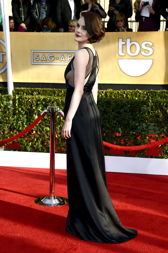 Michelle Dockery posed at the SAG Awards.