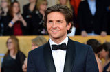 Bradley Cooper smiled on the SAG Awards red carpet.