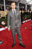 Justin Timberlake Checks In on the SAGs Red Carpet