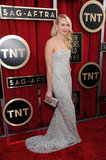 Naomi Watts wore Marchesa on the red carpet at the SAG Awards 2013.