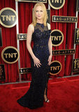 Nicole Kidman smiled solo at the SAG Awards Sunday.