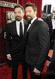 Ben Affleck had his arm around Hugh Jackman on the SAG Awards red carpet.