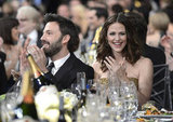 The couple clapped in excitement at the 2013 SAG Awards.