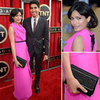 See Freida Pinto in fuschia Roland Mouret at 2013 SAG Awards