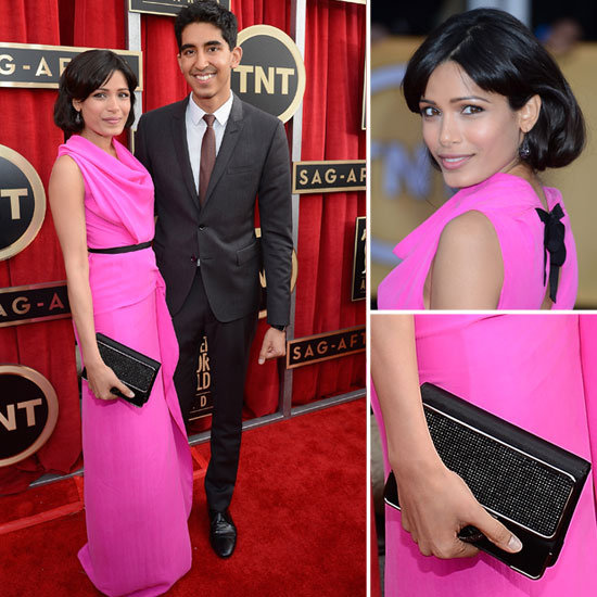 Freida Pinto: SAG Awards Red Carpet Dresses 2013