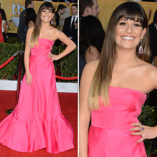 Lea Michele: SAG Awards Red Carpet Dresses 2013
