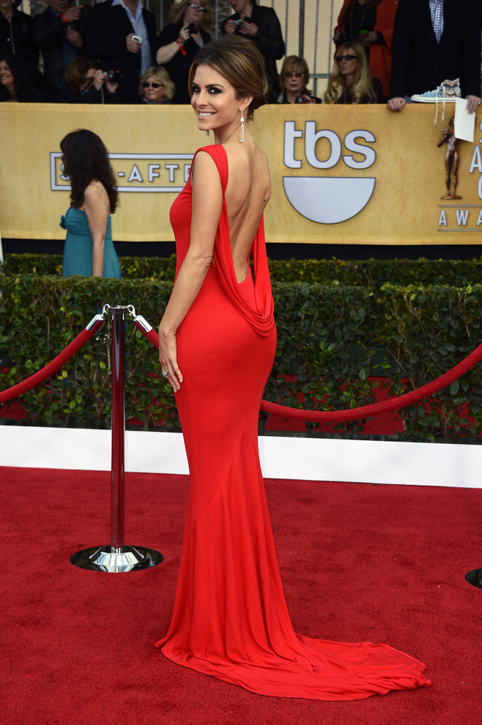 Maria Menounos's red gown was all about a very sexy, exposed back.