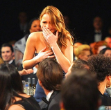 Jennifer Lawrence was taken by surprise.  Source: Instagram User hungergames_obsession