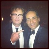 Rainn Wilson found a buddy backstage. Source: Instagram User rainnwilson