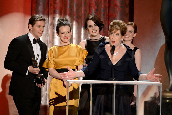 Michelle Dockery, Sophie McShera, Allen Leech, Phyllis Logan, and Amy Nuttall