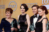 Michelle Dockery, Allen Leech, Phyllis Logan, and Amy Nuttall