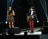 Glee stars Naya Rivera and Darren Criss performed a duet during the 2013 Kids' Inaugural event.