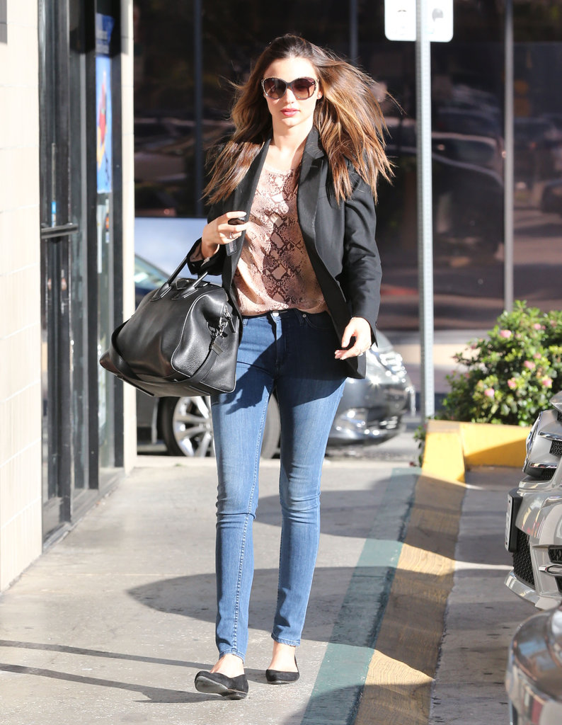 Miranda Kerr stopped by an LA nail salon.