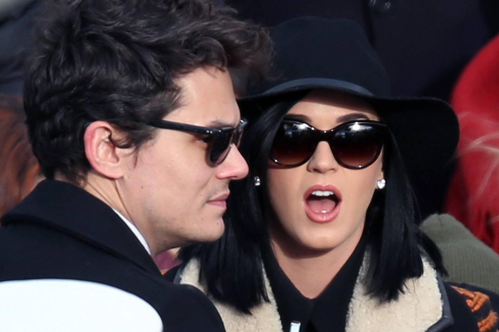 Couple John Mayer and Katy Perry arrived at the 57th presidential inauguration together Monday.