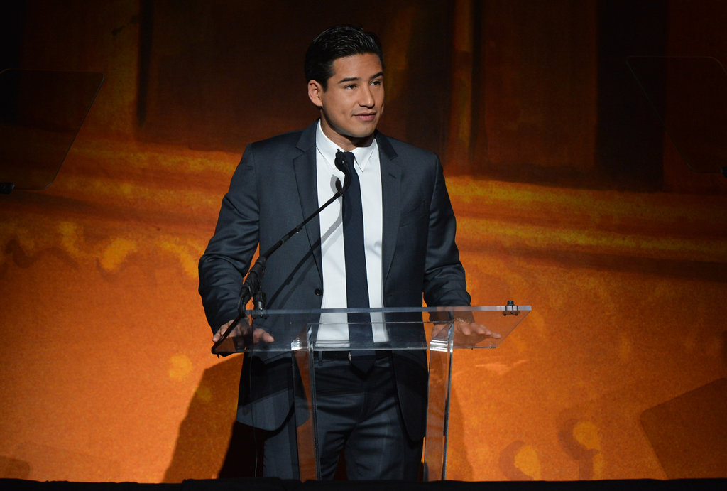 TV personality Mario Lopez also spoke at the Latino Inaugural event.