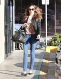 Miranda Kerr Steps Out in Snakeskin For a Salon Stop