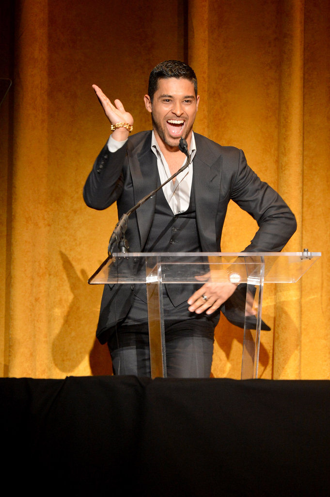 Wilmer Valderrama joked around on stage as he spoke to audience members at the Kennedy Center on Sunday night.