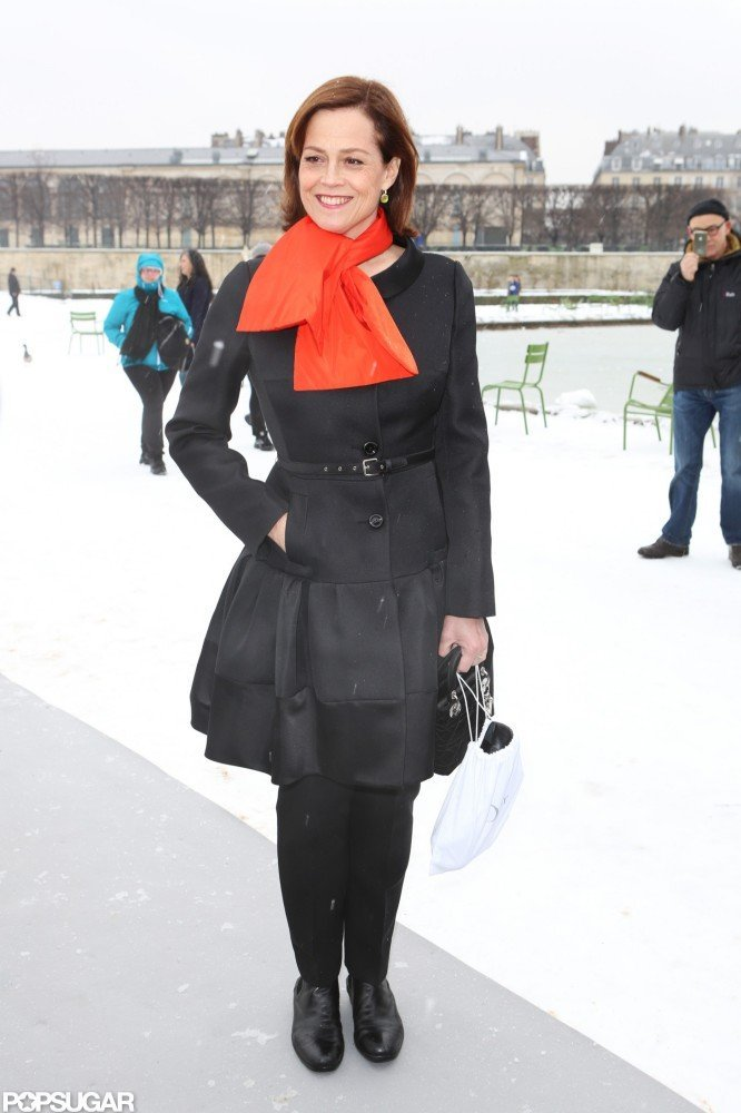 Sigourney Weaver attended the Christian Dior Haute Couture runway show in Paris.