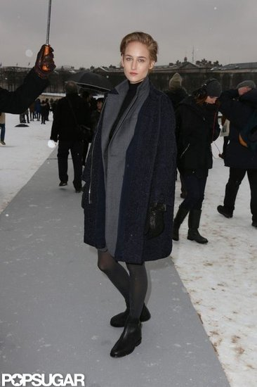 LeeLee Sobieski stepped out in the chilly Paris weather.