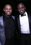 Terrence J smiled with Wayne Brady just outside the Hip-Hop Inaugural Ball Sunday night.