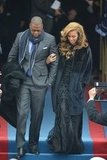 Beyonce had the support of her husband and music mogul Jay-Z Monday during her presidential inauguration performance.