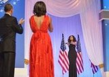 Jennifer Hudson performed during the first couple's inaugural ball dance.