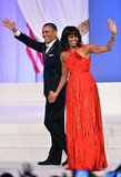 Barack Obama and Michelle Obama held hands at the Commander-in-Chief's Inaugural Ball.