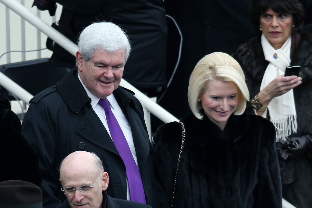 Newt and Callista Gingrich were watching from the stands.