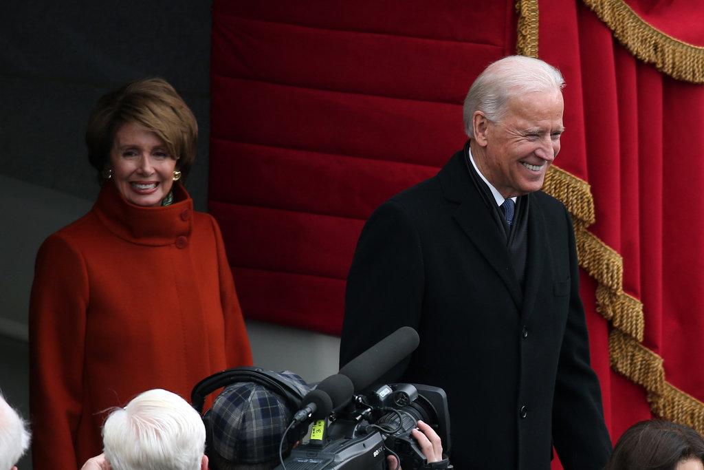 Joe Biden and Nancy Pelosi arrived at the inauguration.