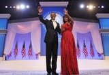 President Barack Obama and First Lady Michelle Obama waved at the inaugural ball.