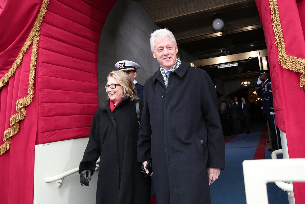 Bill and Hillary Clinton arrived at the presidential inauguration.