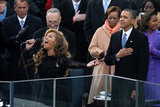 President Obama listened as Beyoncé sang the national anthem.
