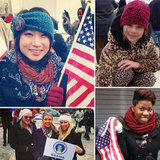 Women Stay Warm and Show Obama Support at the Inauguration