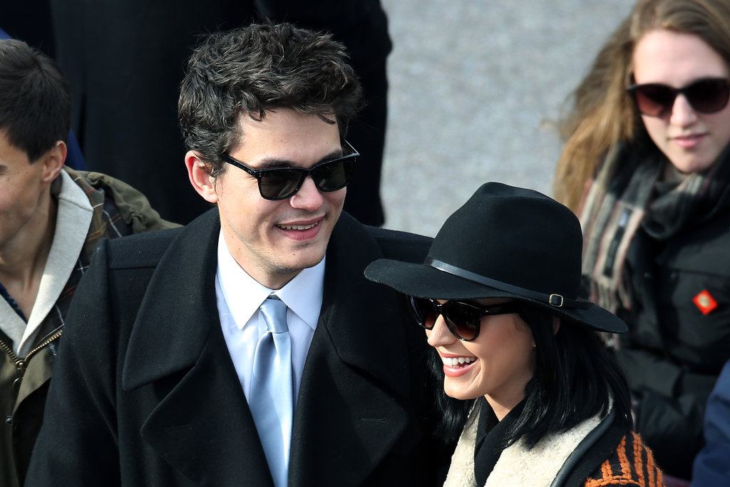 John Mayer and Katy Perry attended the presidential inauguration.