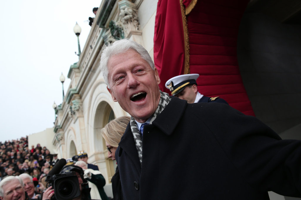 Bill Clinton looked like he was enjoying himself.