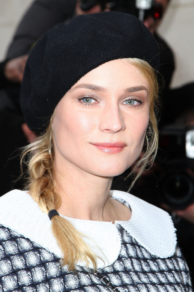 1. Beret + Side Braid