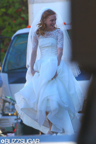 Jayma Mays as Emma on Glee.