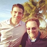 Bryan Greenberg posed with Stephen Root, his costar on an upcoming TV series. Source: Instagram user bryangreenberg