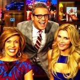 Andy Cohen posed with Hoda Kotb and Brandi Glanville on the set of Watch What Happens Live. Source: Instagram user bravoandy
