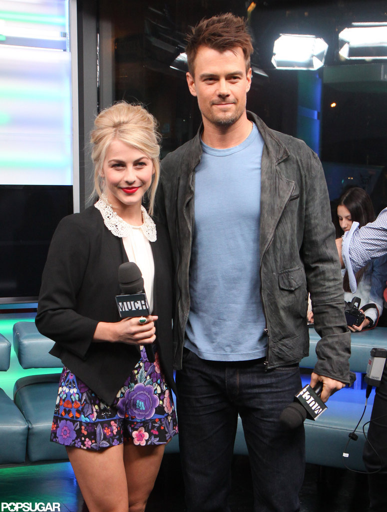 Julianne Hough and Josh Duhamel promoted Safe Haven in Canada.