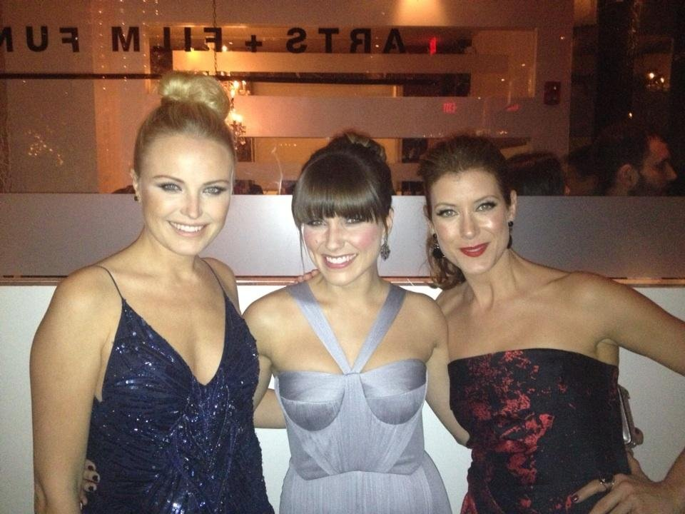 Malin Akerman, Sophia Bush, and Kate Walsh attended an inauguration ball together. Source: Twitter user MalinAkerman