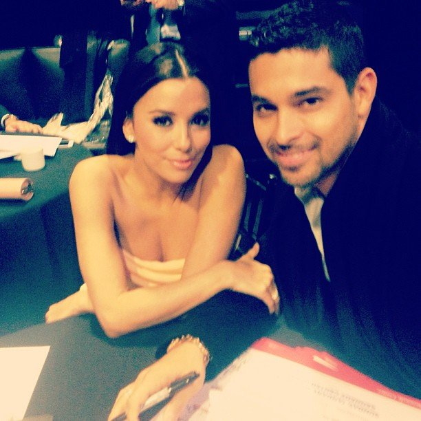 Wilmer Valderrama met up with Eva Longoria at a pre-inauguration event. Source: Instagram user WilmerValderrama