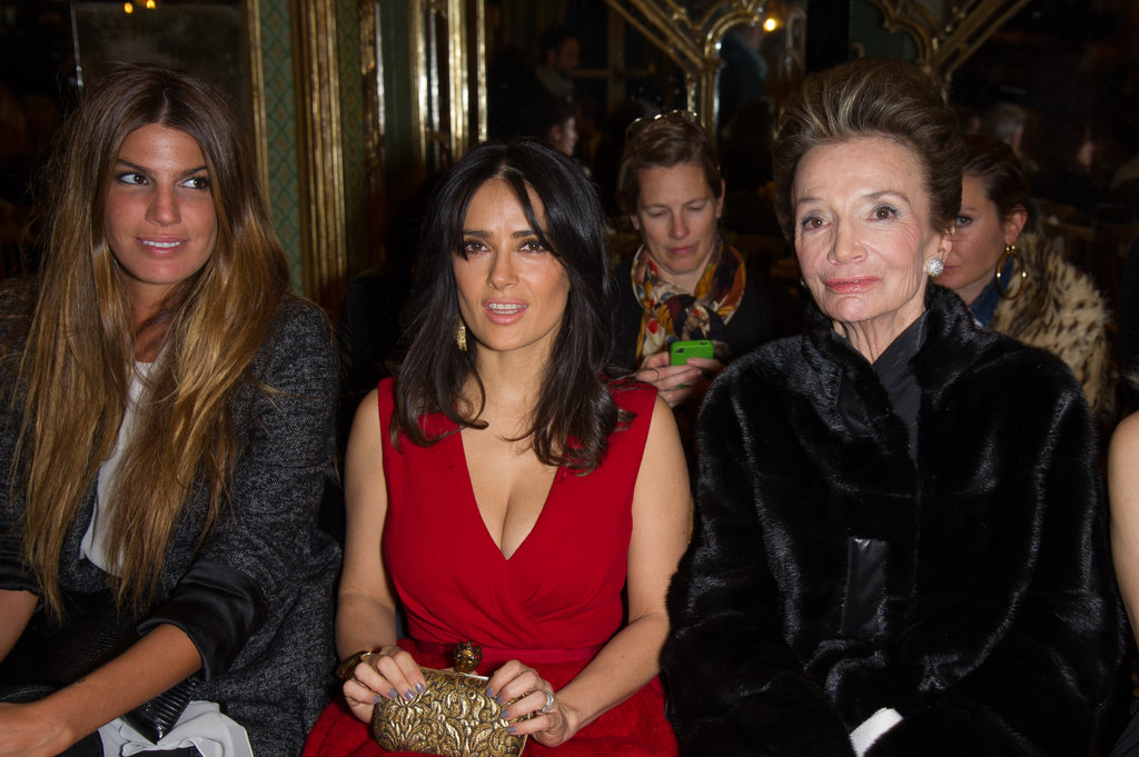Bianca Brandolini, Salma Hayek and Lee Radziwill attended the Giambattista Valli show.