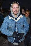 Shia LaBeouf arrived at the premiere for The Necessary Death of Charlie Countryman.